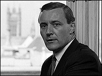 Tony Benn in 1966, shortly after taking over as Minister of Technology