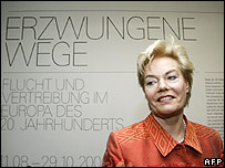 Erika Steinbach during a preview of the exhibition in Berlin