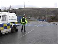 Shooting scene in Ballymurphy
