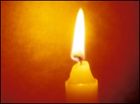 A candle (BBC)