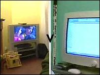 TV v a computer