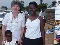 Mariam with her mother and Australian Jean Leak who runs African Action organisation (Jean sent this picture into yourpics@bbc.co.uk)
