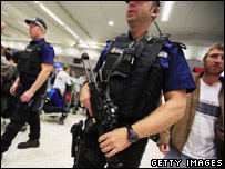 Police at Manchester Airport