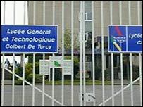 Gates of the Colbert de Torcy secondary school