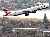 British Airways plane taking off