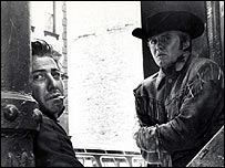 Dustin Hoffman and Jon Voight in Midnight Cowboy (film)