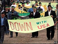 Anti-American rally outside Iran's Natanz Uranium Enrichment Facility