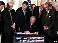 President Bush signs
