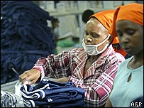 Kenyan factory workers
