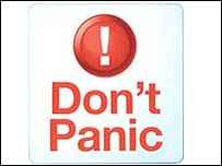 Don't panic graphic