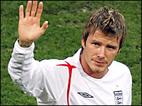 David Beckham won 94 England caps