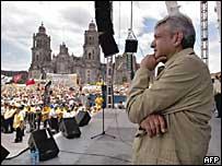 Andrés Manuel López Obrador, en el zócalo capitalino