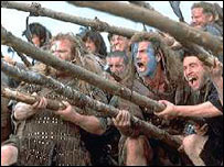 Image from the film Braveheart