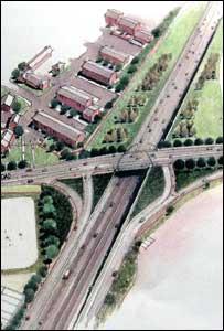 Artist's impression of the new Grosvenor Road junction
