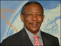South Africa's national Police Commissioner Jackie Selebi