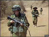 Israeli soldiers in southern Lebanon