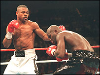 James Toney (right) was battered by Roy Jones in 1994