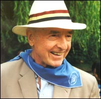 John Profumo on a scout centre visit. Picture courtesy of Toynbee Hall