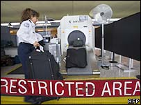 US security official at Washington DC airport
