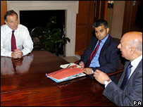 MPs Sadiq Khan and Mohammed Sarwar meeting Tony Blair