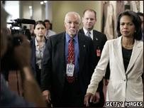 La secretaria de Estado de EE.UU., Condoleezza Rice, en la ONU