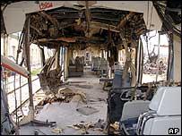 قطار جرى تفجيره