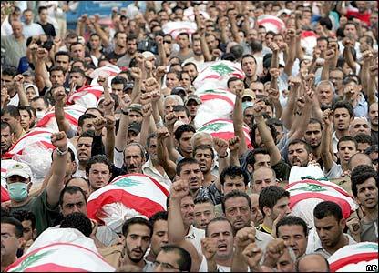Funeral masivo en Beirut