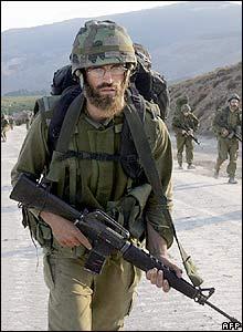 Reservista israelí en Líbano