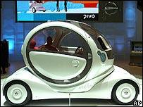 The Nissan Pivo concept car at the Geneva Motor Show