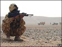 British solider in Afghanistan