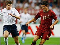 Steven Gerrard (left) and Cristiano Ronaldo
