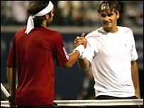 Roger Federer (right)