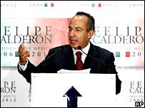 Felipe Calderón, del PAN