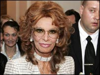 Sophia Loren at  a charity function in May 2006