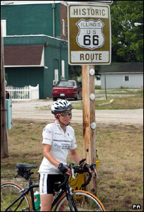 Jane Tomlinson on Route 66