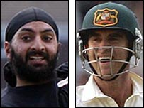 Monty Panesar and Matthew Hayden