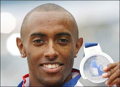 Britain's Nathan Douglas finally receives his silver medal