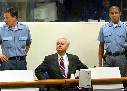 Slobodan Milosevic at The Hague Tribunal. Photo: 2003