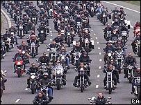 A convoy of Hells Angels