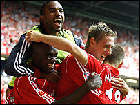 Crouch celebrates his winner