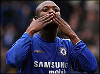 Chelsea's William Gallas celebrates his goal