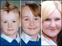 Marcus Carter, Patricia Carter and Samantha Carter who perished in the fire