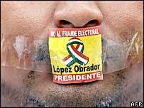 Pro-Obrador protester