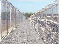 Lompoc prison fence