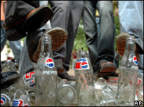 Protests against soft drinks in India