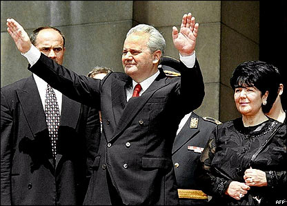 Slobodan Milosevic and wife Mira Markovic
