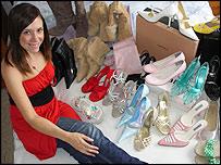 Claire Grinham and her shoes
