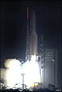 Ariane 5-ECA launches from Kourou