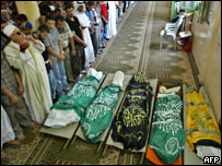 Palestinos asesinados en la Franja de Gaza