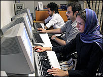 Internet cafe in Tehran